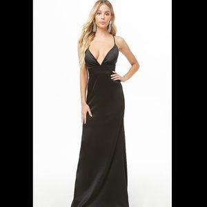 Black Silk Criss-Cross Gown
